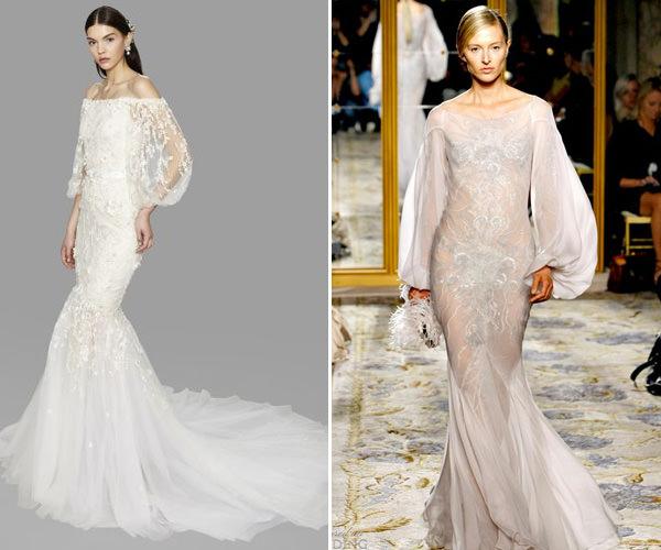 vestido de noiva com mangas bufantes